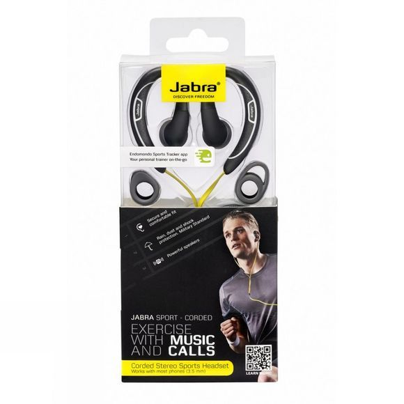 Jabra Jabra Sport Corded Black          /Yellow