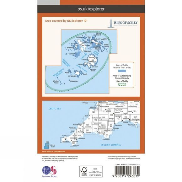 Ordnance Survey Explorer Map 101 Isles of Scilly V15
