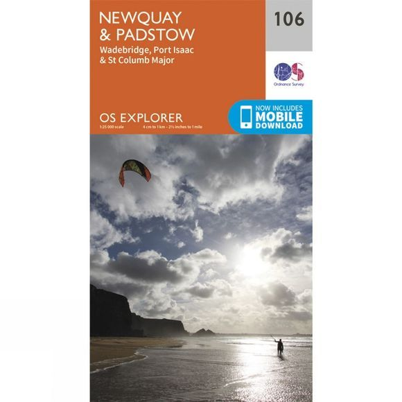 Explorer Map 106 Newquay and Padstow
