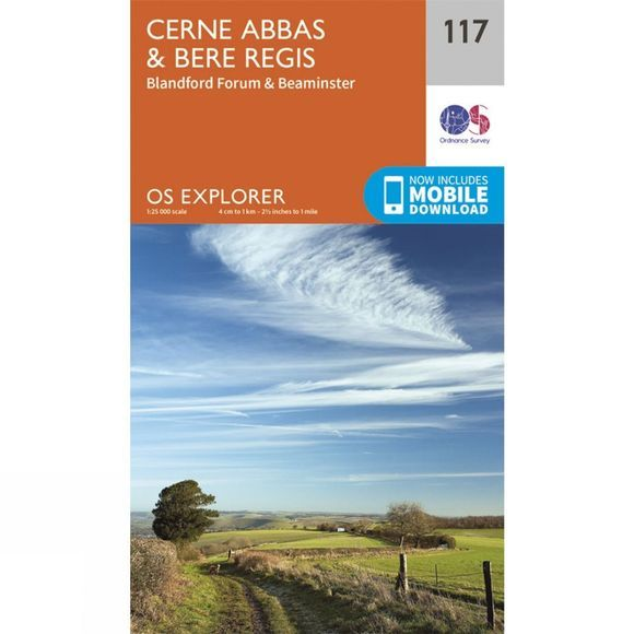 Explorer Map 117 Cerne Abbas and Bere Regis