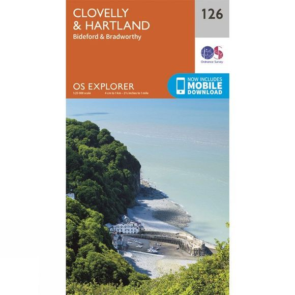 Ordnance Survey Explorer Map 126 Clovelly and Hartland V15