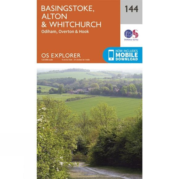 Ordnance Survey Explorer Map 144 Basingstoke, Alton and Whitchurch V15