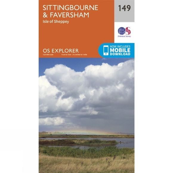 Explorer Map 149 Sittingbourne and Faversham