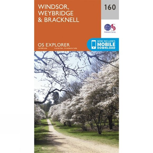 Explorer Map 160 Windsor,Weybridge and Bracknell