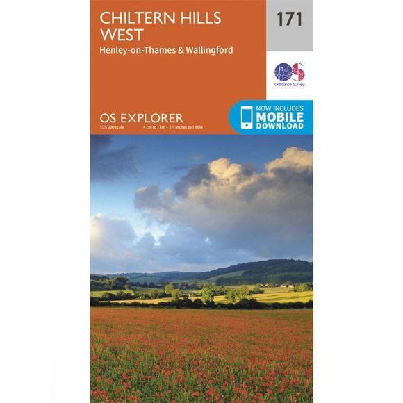 Ordnance Survey Explorer Map 171 Chiltern Hills West V15