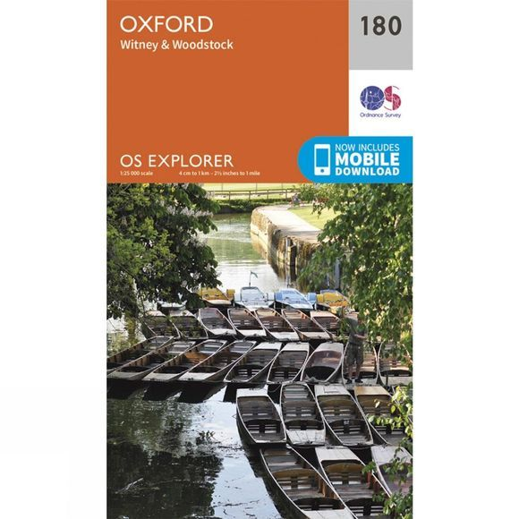 Ordnance Survey Explorer Map 180 Oxford V15