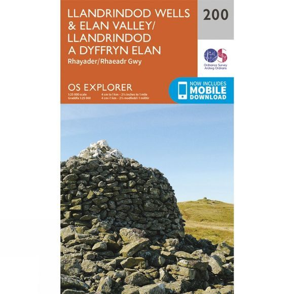 Explorer Map 200 Llandrindod Wells and Elan Valley