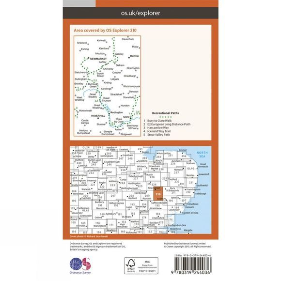 Explorer Map 210 Newmarket and Haverhill