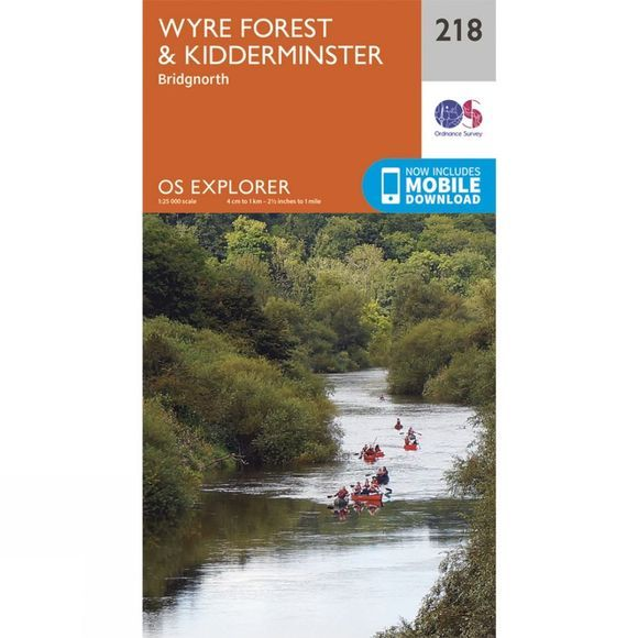 Ordnance Survey Explorer Map 218 Wyre Forest and Kidderminster V15