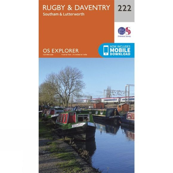 Explorer Map 222 Rugby and Daventry