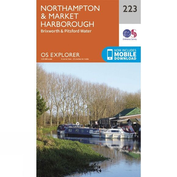 Ordnance Survey Explorer Map 223 Northampton and Market Harborough V15