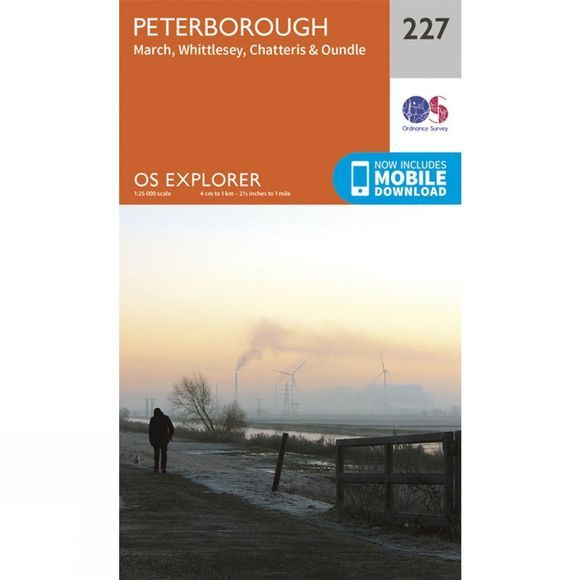 Ordnance Survey Explorer Map 227 Peterborough V15