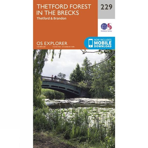 Ordnance Survey Explorer Map 229 Thetford Forest in the Brecks V15