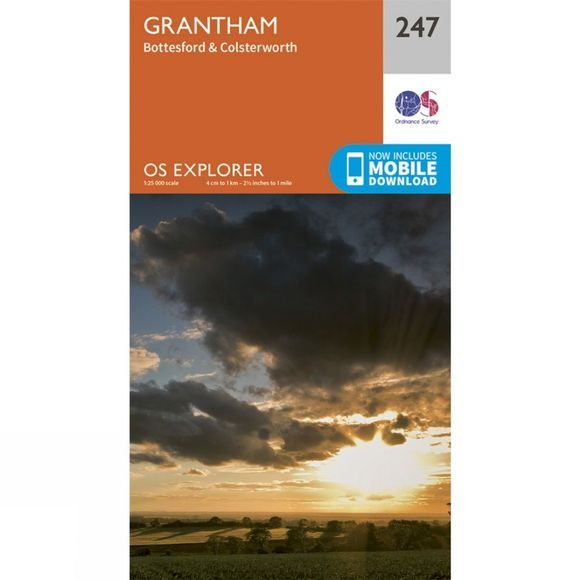 Ordnance Survey Explorer Map 247 Grantham V15