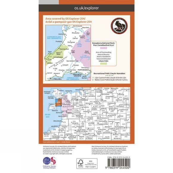 Ordnance Survey Lleyn Peninsula East V15