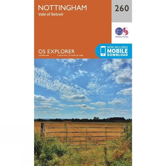 Explorer Map 260 Nottingham