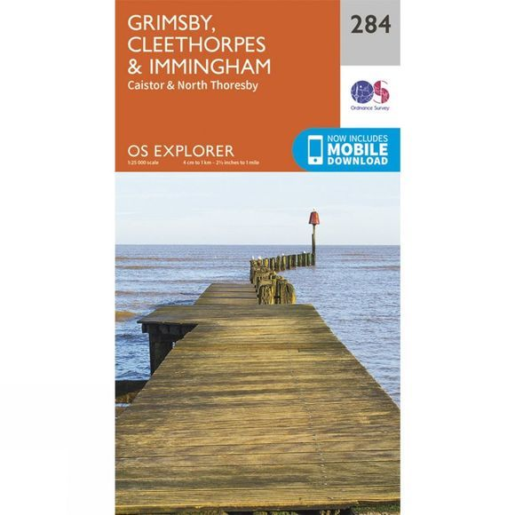 Explorer Map 284 Grimsby, Cleethorpes and Immingham