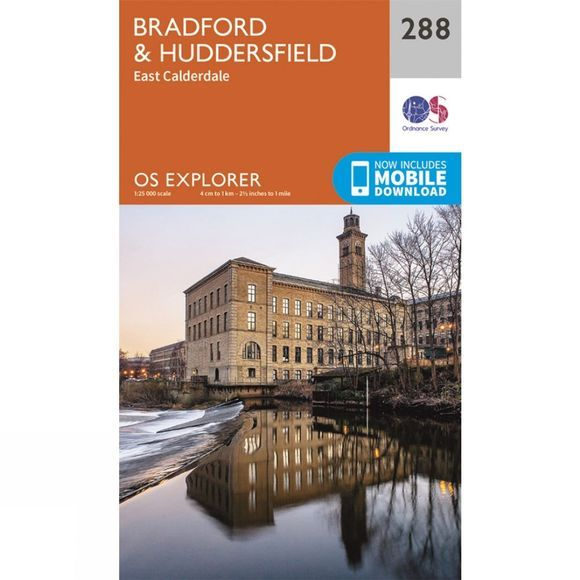 Ordnance Survey Explorer Map 288 Bradford and Huddersfield V15