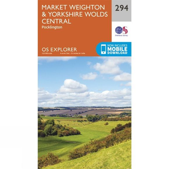 Explorer Map 294 Market Weighton and Yorkshire Wolds Central