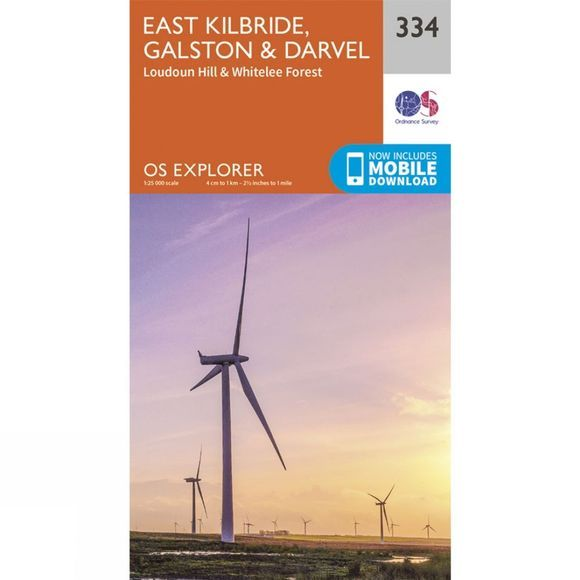 Ordnance Survey Explorer Map 334 East Kilbride, Galston and Darvel V15