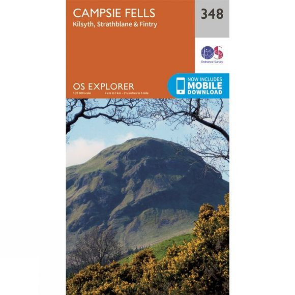 Ordnance Survey Explorer Map 348 Campsie Fells V15