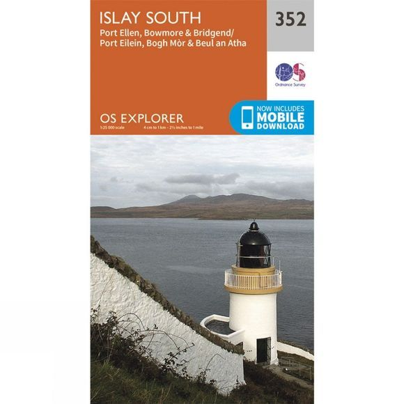 Ordnance Survey Explorer Map 352 Islay South V15