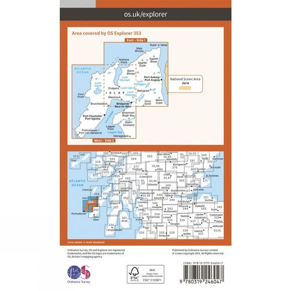Ordnance Survey Explorer Map 353 Islay North V15