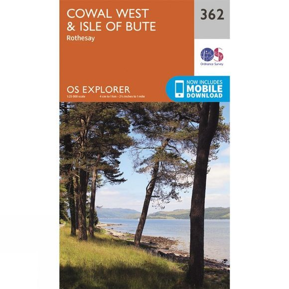 Ordnance Survey Explorer Map 362 Cowal West and Isle of Bute V15