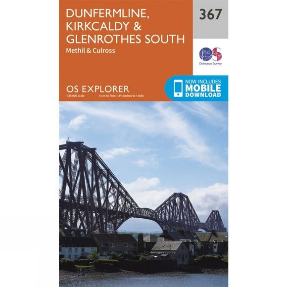 Explorer Map 367 Dunfermline, Kirkcaldy and Glenrothes South