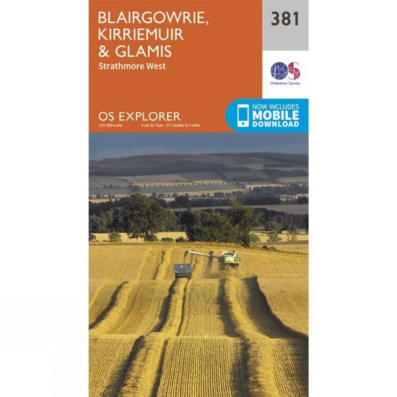 Explorer Map 381 Blairgowrie, Kirriemuir and Glamis