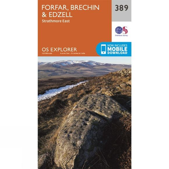 Explorer Map 389 Forfar, Brechin and Edzell