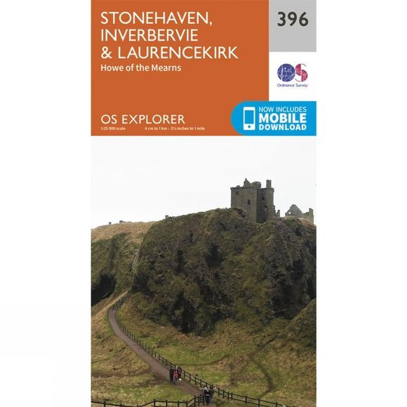 Explorer Map 396 Stonehaven, Inverbervie and Laurencekirk
