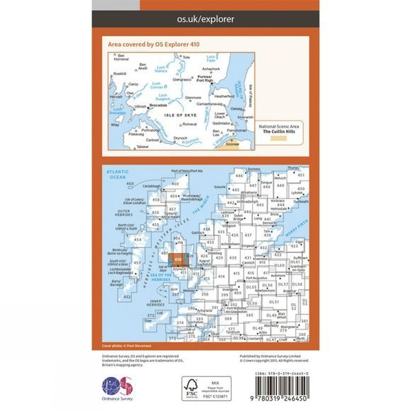 Explorer Map 410 Skye, Portree and Bracadale