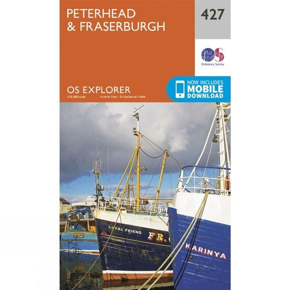 Explorer Map 427 Peterhead and Fraserburgh