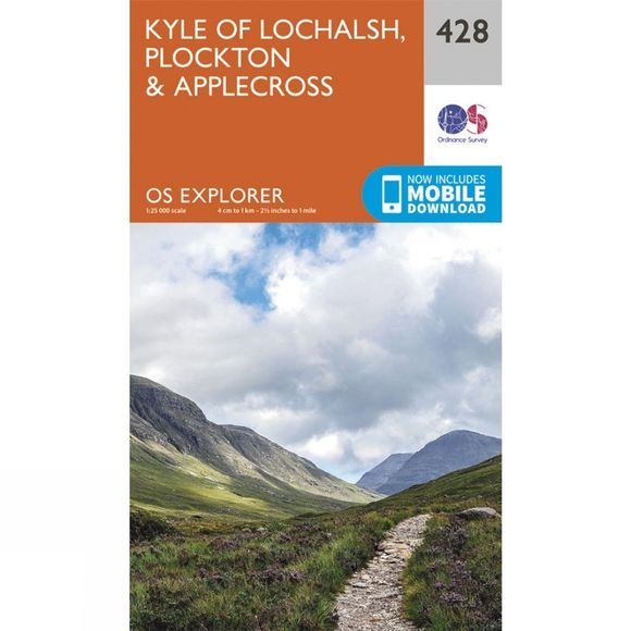 Explorer Map 428 Kyle of Lochalsh, Plockton and Applecross