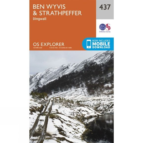 Ordnance Survey Explorer Map 437 Ben Wyvis and Strathpeffer V15