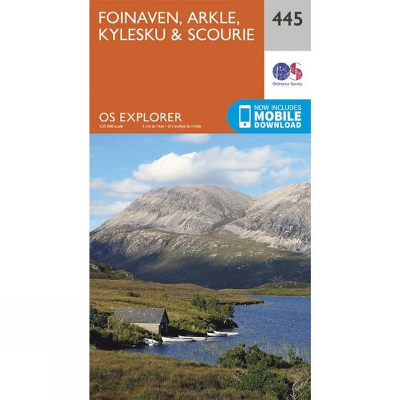 Ordnance Survey Explorer Map 445 Foinaven, Arkle, Kylesku and Scourie V15
