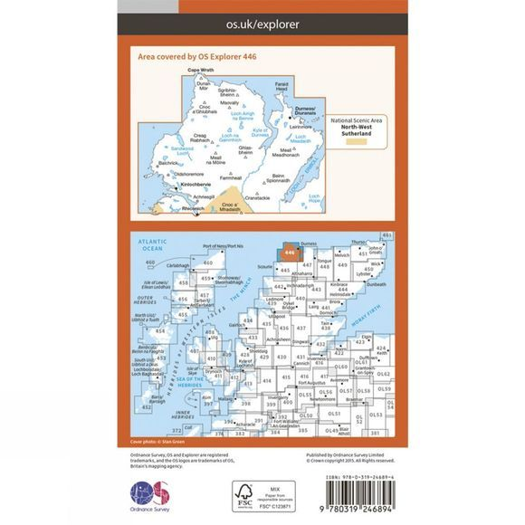 Explorer Map 446 Durness and Cape Wrath