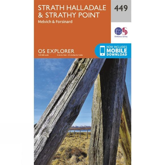 Explorer Map 449 Strath Halladale and Strathy Point