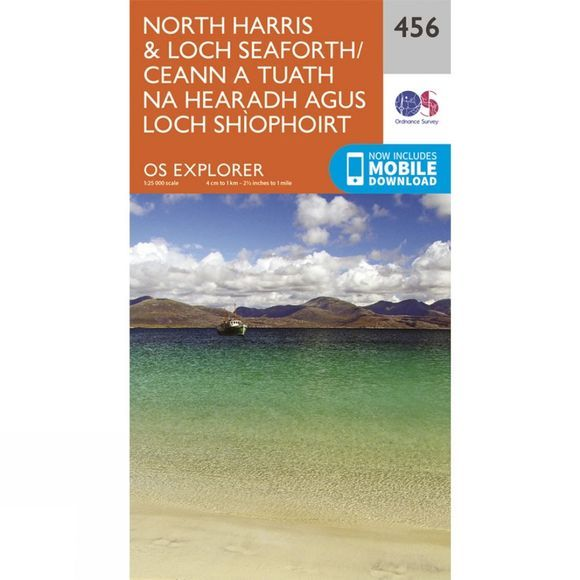Ordnance Survey Explorer Map 456 North Harris and Loch Seaforth V15