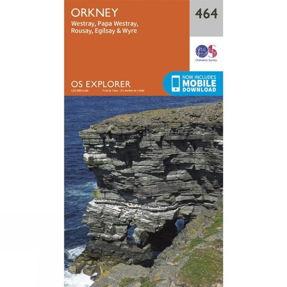 Explorer Map 464 Orkney - Westray, Papa Westray, Rousay, Egilsay and Wyre