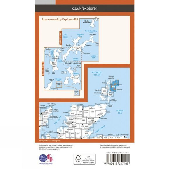 Explorer Map 465 Orkney - Sanday, Eday, North Ronaldsay and Stronsay