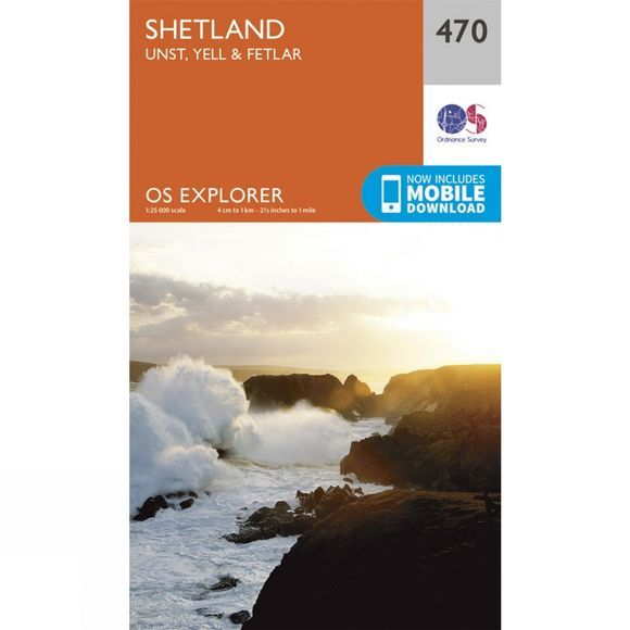 Explorer Map 470 Shetland - Unst, Yell and Fetlar
