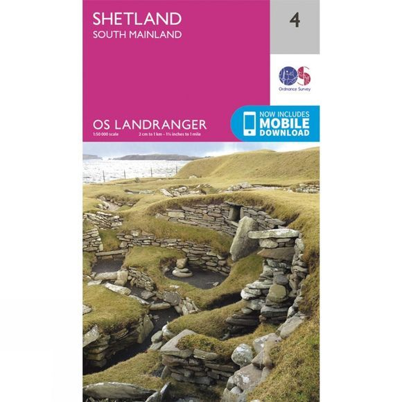 Landranger Map 04 Shetland - South Mainland