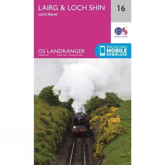 Ordnance Survey Landranger Map 16 Lairg and Loch Shin V16