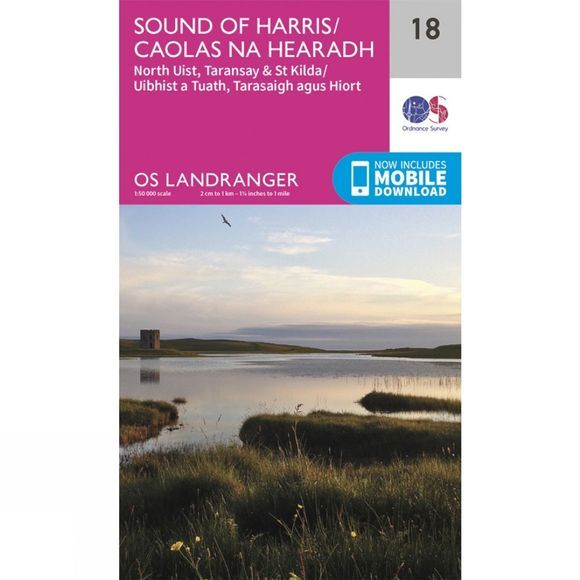 Landranger Map 18 Sound of Harris
