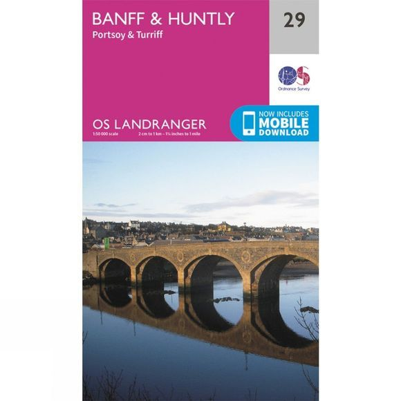 Landranger Map 29 Banff and Huntly
