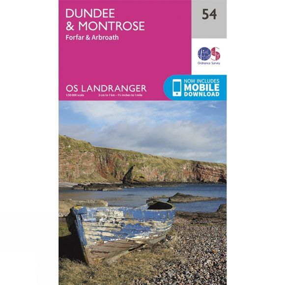 Ordnance Survey Landranger Map 54 Dundee and Montrose V16