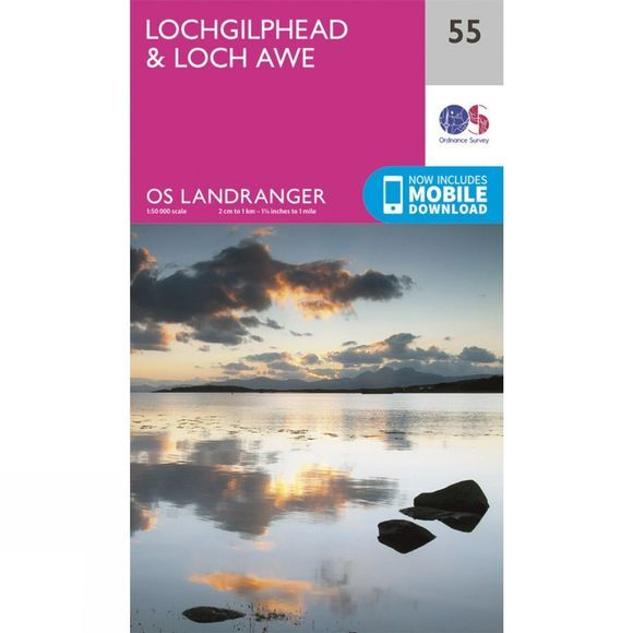 Ordnance Survey Landranger Map 55 Lochgilphead and Loch Awe V16