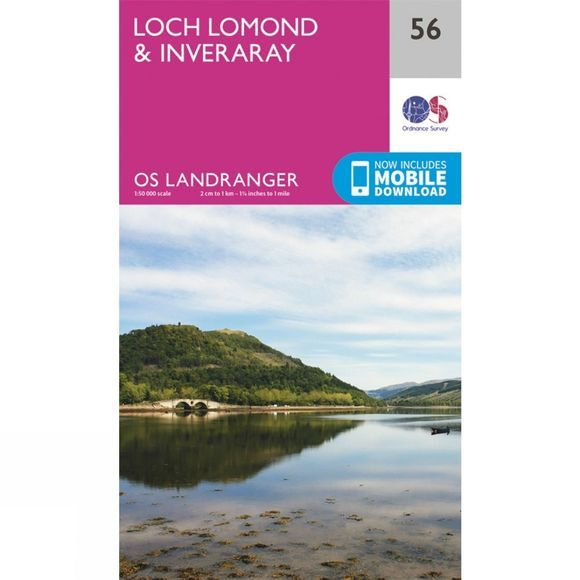 Ordnance Survey Landranger Map 56 Loch Lomond and Inveraray V16